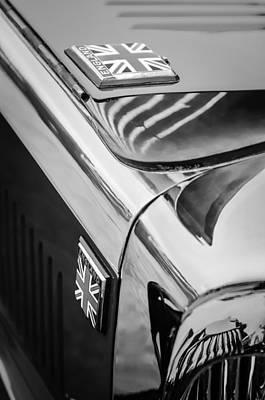 Photograph - 1934 Aston Martin Mark II Short Chassis 2-4 Seater Emblem by Jill Reger