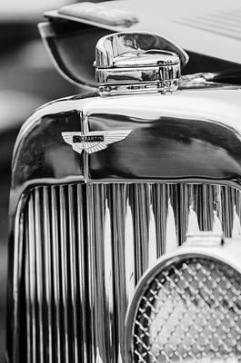 Photograph - 1934 Aston Martin Mark II Short Chassis 2-4 Seater Grille Emblem by Jill Reger