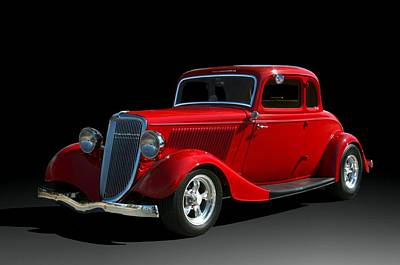 Photograph - 1934 Ford 5 Window Coupe Hot Rod by Tim McCullough