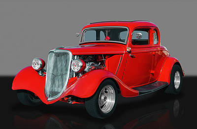 Red Street Rod Photograph - 1934 Ford Coupe by Frank J Benz