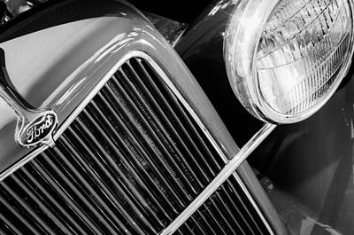 Ford Pickup Photograph - 1934 Ford Pickup Truck Grille Emblem by Jill Reger