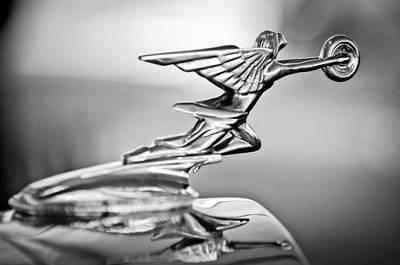 Goddess Images Photograph - 1934 Packard 8 1101 Sedan Hood Ornament by Jill Reger