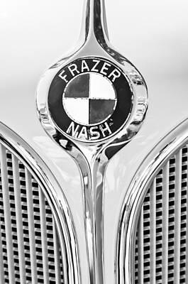 319 Photograph - 1935 Fraser Nash - Bmw 319 Roadster Emblem by Jill Reger