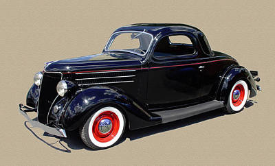 1936 Ford 3 Window Coupe Art Print by Jack Pumphrey