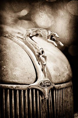 1936 Ford Photograph - 1936 Ford Cabriolet Hood Ornament by Jill Reger