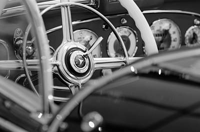 Photograph - 1936 Mercedes-benz 540 Special Roadster Steering Wheel by Jill Reger