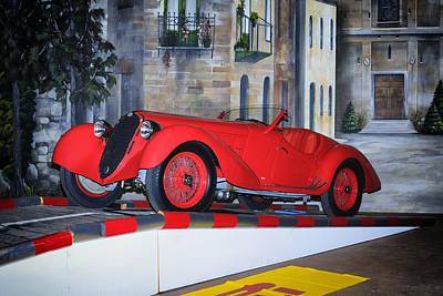 1937 Alfa Romeo 8c 2900a Art Print by Boris Mordukhayev