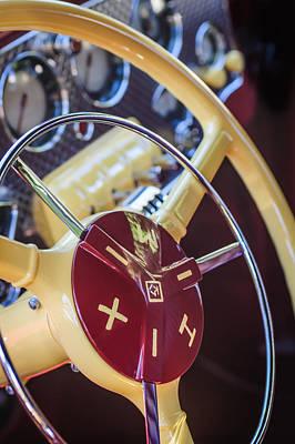 Photograph - 1937 Cord 812 Phaeton Steering Wheel by Jill Reger
