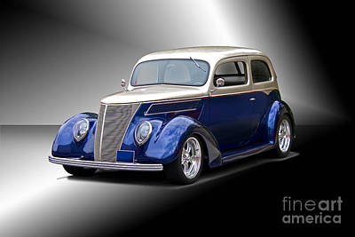 Little Mosters - 1937 Ford Sedan Studio by Dave Koontz