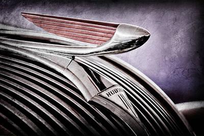 Photograph - 1937 Hudson Terraplane 4 Door Sedan Hood Ornament - Emblem by Jill Reger