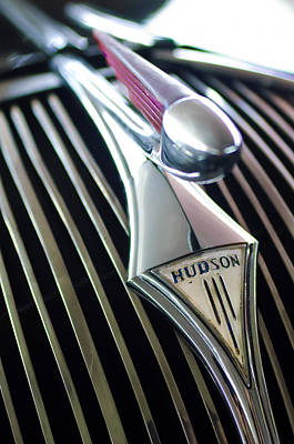 Hoodies Photograph - 1937 Hudson Terraplane Sedan Hood Ornament by Jill Reger