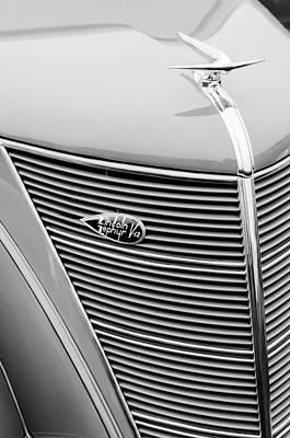 Photograph - 1937 Lincoln-zephyr Coupe Sedan Grille Emblem - Hood Ornament by Jill Reger