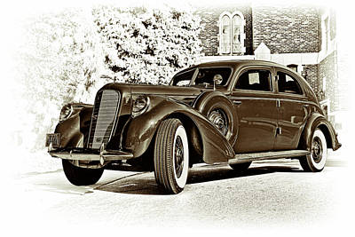 Car Photograph - 1937 Lincoln Zephyr by Marcia Colelli