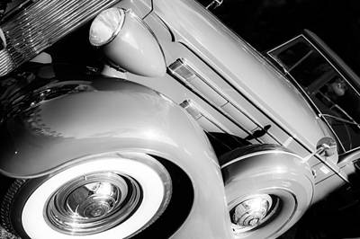 1937 Packard 1508 Dietrich Convertible Sedan Art Print