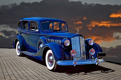 Priska Wettstein Pink Hues - 1937 Packard Formal Sedan Super 8 by Dave Koontz