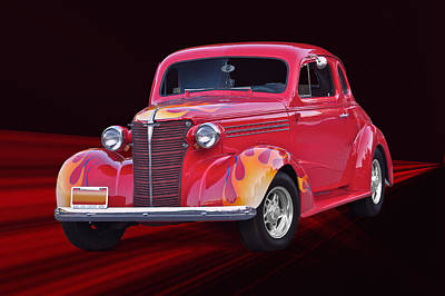 Amy Hamilton Animal Collage Rights Managed Images - 1938 Chevrolet Coupe Royalty-Free Image by Dave Koontz
