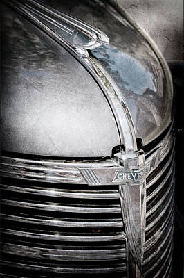 1938 Chevrolet Hood Ornament - Emblem Art Print by Jill Reger