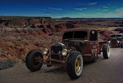 Photograph - 1938 Ford Rat Rod Pickup Truck by Tim McCullough