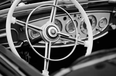 1938 Mercedes-benz 540k Special Roadster Steering Wheel Art Print by Jill Reger