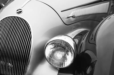 1938 Talbot-lago 150c Ss Figoni And Falaschi Cabriolet Headlight - Emblem Print by Jill Reger