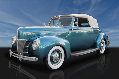 Photograph - 1940 Ford Deluxe Convertible  by Frank J Benz