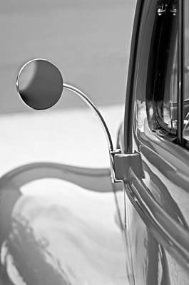 1940 Ford Deluxe Coupe Rear View Mirror Art Print by Jill Reger