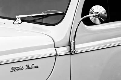 1940 Ford Deluxe Side Emblem Art Print by Jill Reger