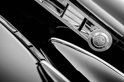 1940 Packard 120 Convertible Sedan Side Emblem Art Print by Jill Reger