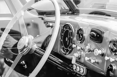 Photograph - 1940 Tatra T87 Sedan Steering Wheel by Jill Reger