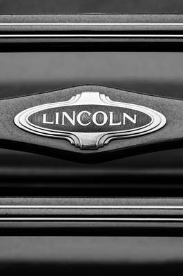 Lincoln Photograph - 1941 Lincoln Emblem by Jill Reger