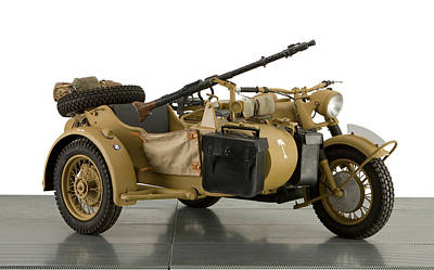Sidecar Photograph - 1943 Bmw 750cc R7 Africa Corps Military by Panoramic Images