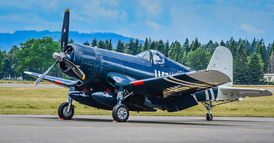 1945 Corsair Fg-1d Art Print by Puget  Exposure