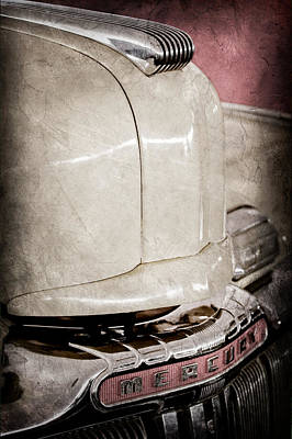 Photograph - 1947 Mercury Convertible Hood Ornament - Emblem by Jill Reger