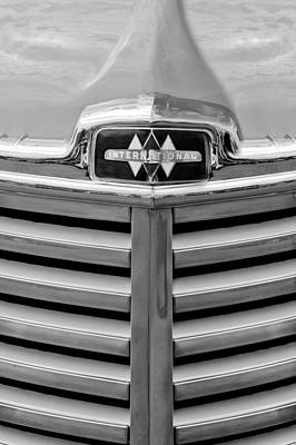 Photograph - 1948 International Hood Emblem by Jill Reger