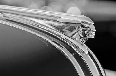 Wagon Photograph - 1948 Pontiac Streamliner Woodie Station Wagon Hood Ornament by Jill Reger