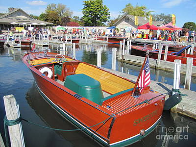 Photograph - 1949 Chris Craft Sportsman by Neil Zimmerman