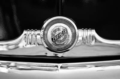 Photograph - 1949 Chrysler Windsor Grille Emblem by Jill Reger