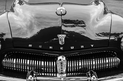 Photograph - 1949 Mercury Coupe Grille - Hood Ornament - Emblems by Jill Reger