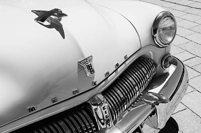 Photograph - 1949 Mercury Station Woodie Wagon Grille Emblem - Hood Ornament by Jill Reger