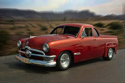 1950 Australian Ford Ute  Art Print by Tim McCullough