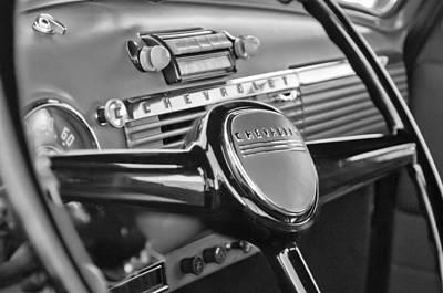 1950 Chevrolet 3100 Pickup Truck Steering Wheel Art Print by Jill Reger