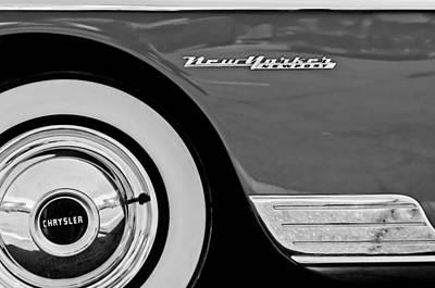 Photograph - 1950 Chrysler New Yorker Coupe Wheel Emblem by Jill Reger