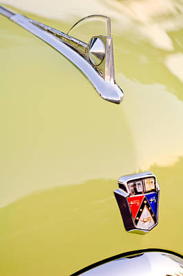 Hood Ornament Photograph - 1950 Ford Hood Ornament - Emblem by Jill Reger