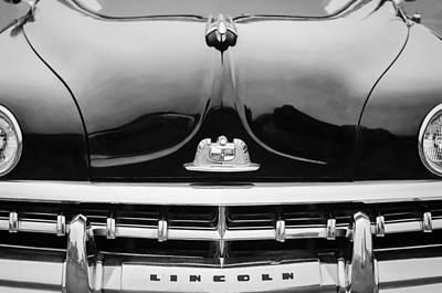 Photograph - 1950 Lincoln Cosmopolitan Henney Limousine Grille Emblem - Hood Ornament by Jill Reger