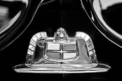 1950 Lincoln Cosmopolitan Limousine Emblem Art Print by Jill Reger