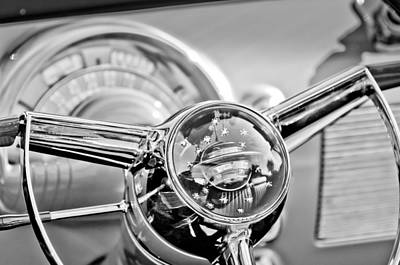 Photograph - 1950 Oldsmobile Rocket 88 Steering Wheel by Jill Reger