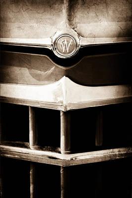 Photograph - 1950 Willys Overland Jeepster Hood Emblem by Jill Reger