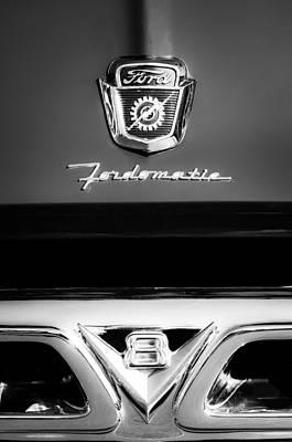 1950's Ford F-100 Pickup Truck Grille Emblems Art Print by Jill Reger