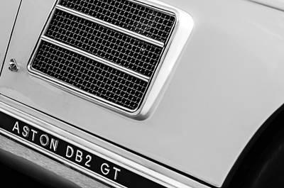 Aston Martin Db2 Photograph - 1951 Aston Martin Db2 Coupe Side Emblem by Jill Reger