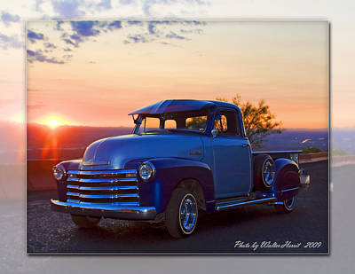 Photograph - 1951 Chevy Pick Up by Walter Herrit